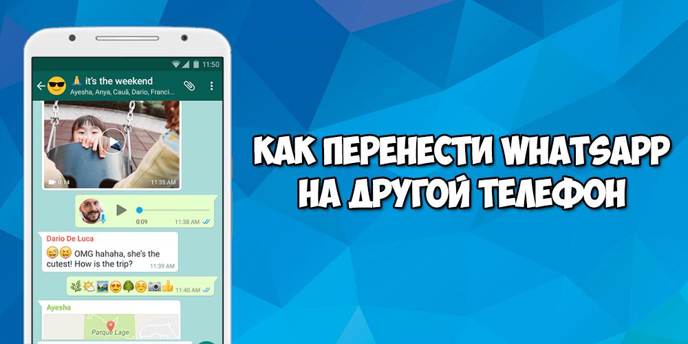 Как перенести Whatsapp