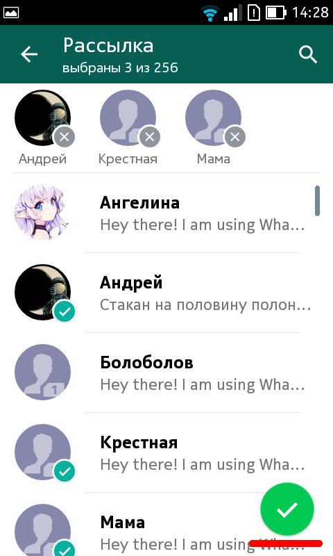 Whatsapp рассылка 2