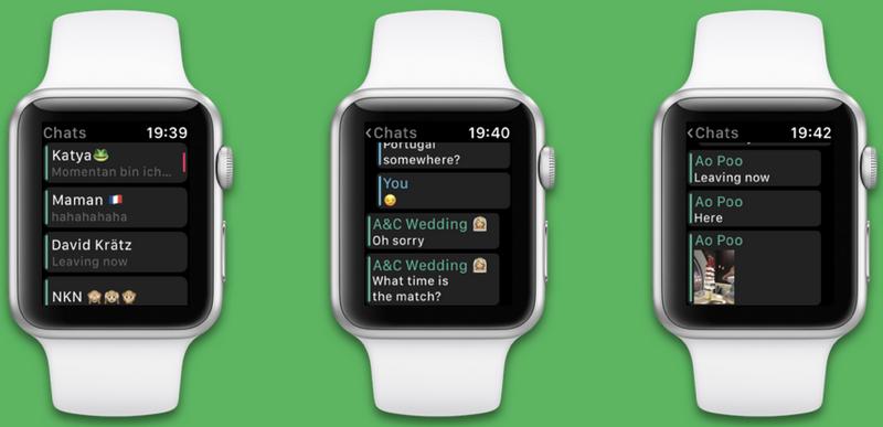 Воцап на Apple Watch