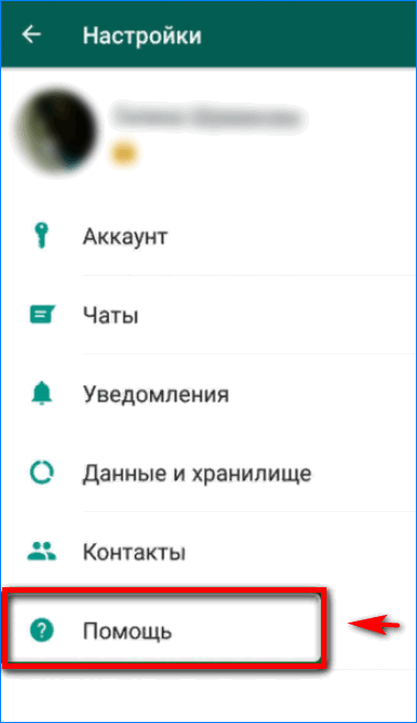 Помощь в WhatsApp