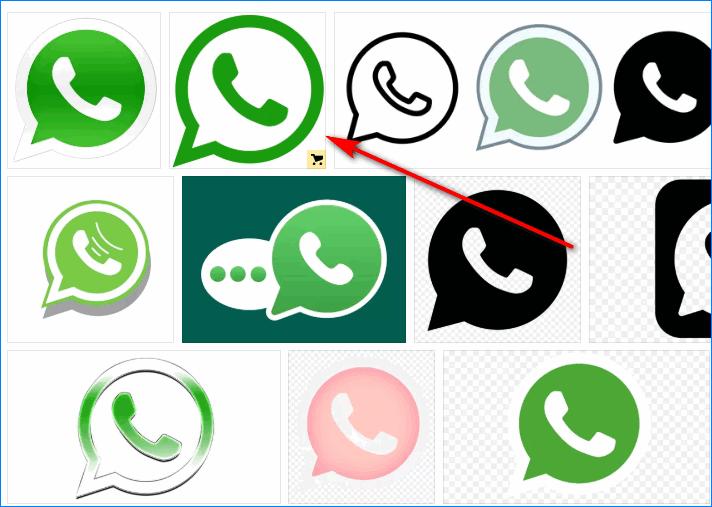 Скачать иконку WhatsApp в Яндексе